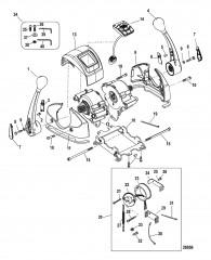 Пульт управления яхтой – DTS Сдвоенное переключение передач/дроссельная заслонка– консоль с панелью CAN