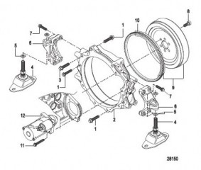 Схема Flywheel Housing