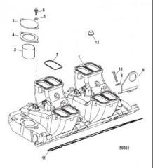 Впускной коллектор и компоненты