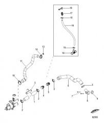 Схема Raw Water Cooling (Bravo) Sea Pump Hoses