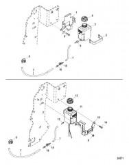 Схема Стандартная система охлаждения – ALPHA 7-точечный слив