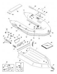 Схема Надувные лодки Dynamic из хайпалона 260/280/310 (Merc 2006-07)