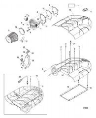 Схема Корпус дроссельной заслонки и воздушная камера