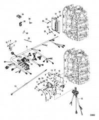 Схема Электрическая панель в сборе Серийный номер 1B490865 и ниже