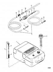 Топливный бак и топливопровод (Пластмассовый – 6.6 галл.)