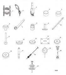 Схема Список инструментов (Сухой поддон) Six/NXT6 SSM – Верхний