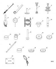 Список инструментов (Привод M8 и NXT1 – верхн.)