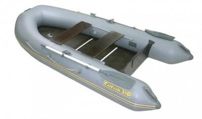 Надувная ПВХ лодка «CatFish 310» (цвет темно-серый)