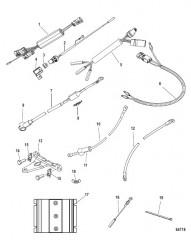 Схема Комплект усилителя рулевого управления подвесного лодочного двигателя– 6цил. (8M0134610)