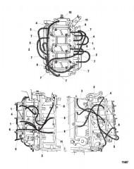 Схема Система слива масла
