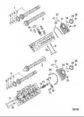 Схема ENGINE COMPONENTS Camshaft and Valves