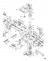 Схема Фиксатор и поворотный кронштейн/замок заднего хода