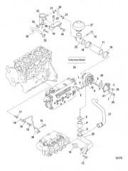Схема Система турбонагнетателя