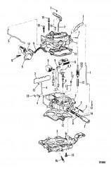 Схема КАРБЮРАТОР (ROCHESTER – 4 ДИФФУЗОРА)
