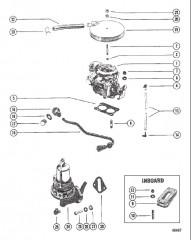 Схема Карбюратор и топливный насос