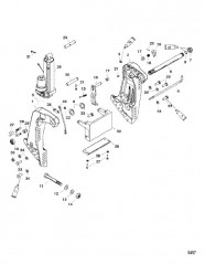 Схема Транцевый кронштейн (С/н- USA 0T800999/ BEL 0P267999 и ниже)