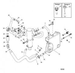 Схема Коленчатый патрубок, выхлоп POD С краном для шланга системы откачки