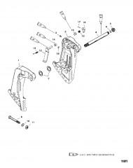 Транцевые кронштейны (С/н 0G589999 и ниже)