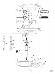 Двигатель для тралового лова в сборе (Модель FW54HB) (12 В)