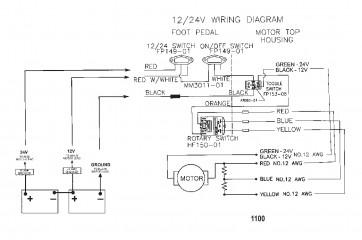 Схема электрических подключений (Модель 652) (12 В)