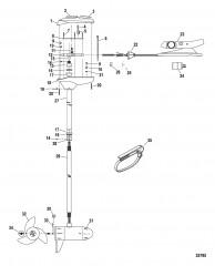 Двигатель для тралового лова в сборе (Модель FW71FB) (24 В)