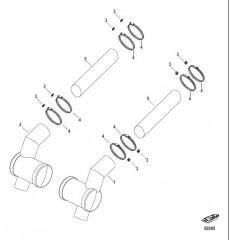 Схема Exhaust System Components Muffler