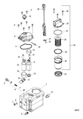Схема Компоненты топливного модуля – Bravo (С/н 1A349420 и выше)
