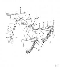 Схема Топливная форсунка/трубы