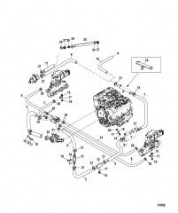 Стандартная система охлаждения Семиточечный слив