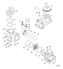 Схема Компоненты воздушного компрессора (Конструкция I)
