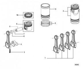 Схема Шатун и поршень Design-II