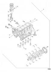 Схема Комплект для технического обслуживания – частичная сборка двигателя