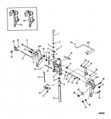 Шарнирный/транцевый кронштейны (Ручной наклон)