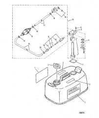 Схема Топливный бак и топливопровод Оригинальное оборудование