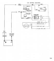 Схема электрических подключений (Модель 736) (12 В)