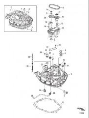 Схема Масляный насос/соединительная пластина – верхние детали