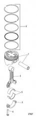 Схема Блок цилиндра Поршень