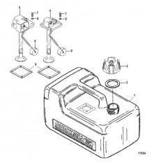 Схема Топливный бак в сборе (3.2 галл.) (Серия 859061)