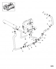 Система охлаждения Компоненты для неочищенной воды, левый борт
