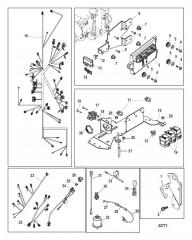 Схема Электрические компоненты (Цифровое управление газом и реверсом)