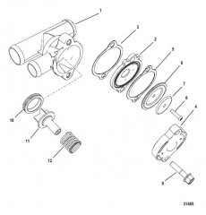 Комплект стравливающего клапана 863208A 3