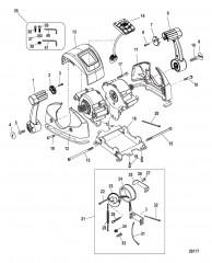 Дистанционное управление – DTS Сдвоенная рукоятка/консоль с панелью CAN (конструкцияI)