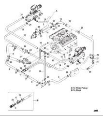 Схема Стандартная система охлаждения (Пневматический слив)