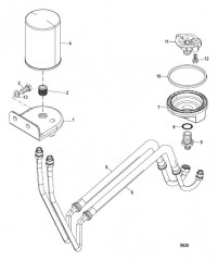 Схема Remote Oil Filter Assembly