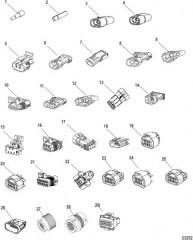 Схема Погодозащитные колпачки, штекеры и разъемы