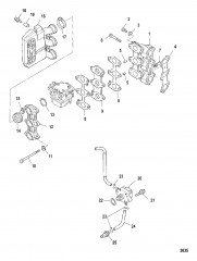 Схема Впускной коллектор и топливный насос