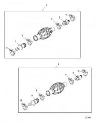 Схема Шаровидная деталь устройства для заливки топлива Не соответствует US-EPA