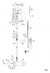 Двигатель для тралового лова в сборе (Модель MP6700D) (24 В)
