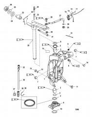 Схема Шарнирный кронштейн и рычаг рулевого механизма