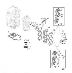 Схема Induction Manifold and Reed Block
